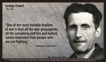 George Orwell on war-propaganda quotepic